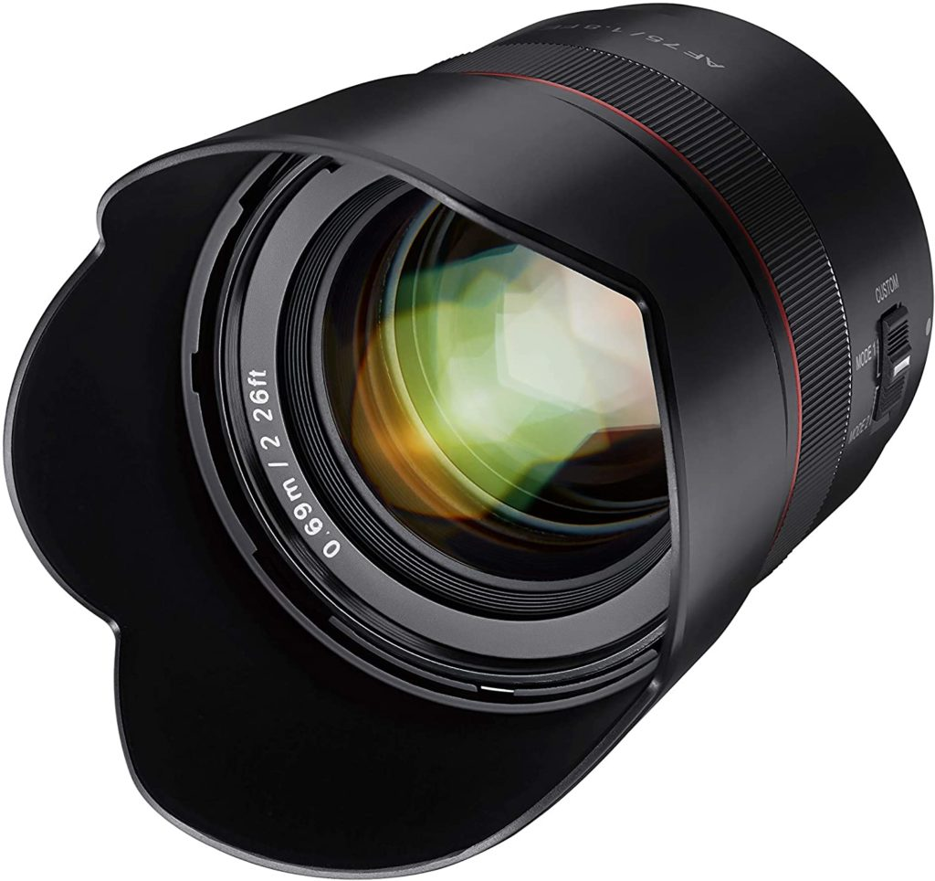 Samyang 75mm Sony Emount lens