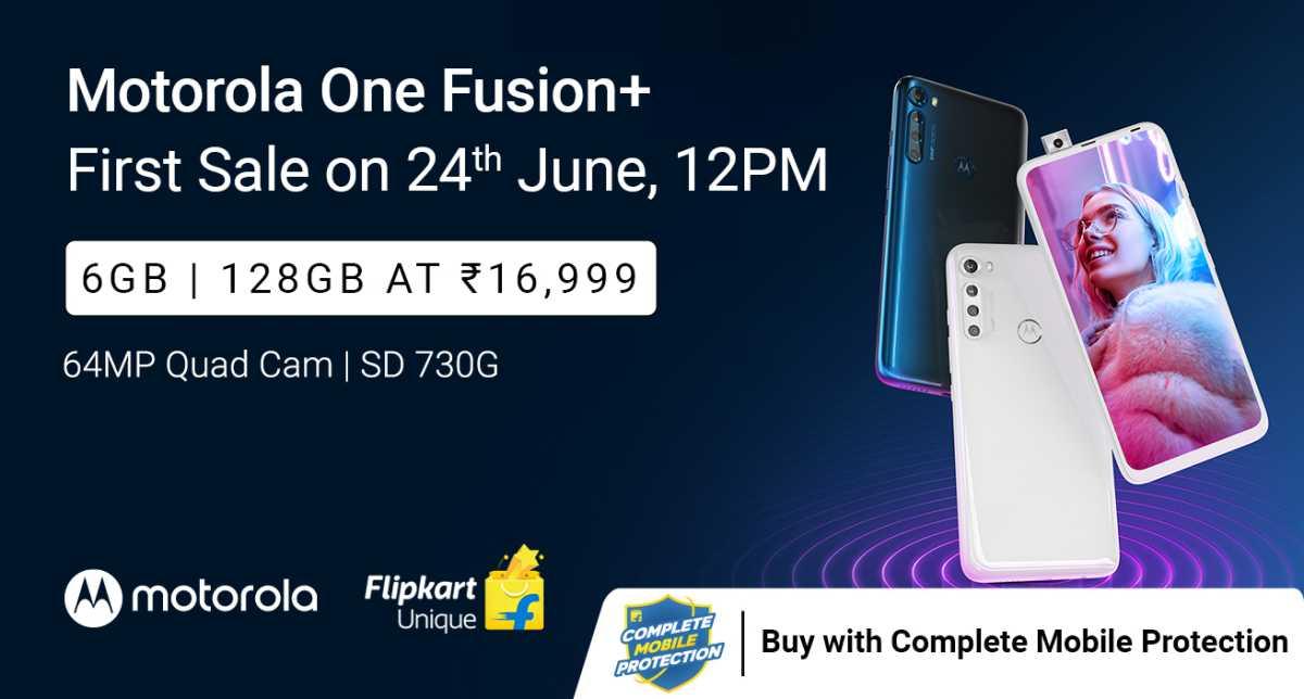 Motorola One Fusion+ First Sale on June 24th on Flipkart