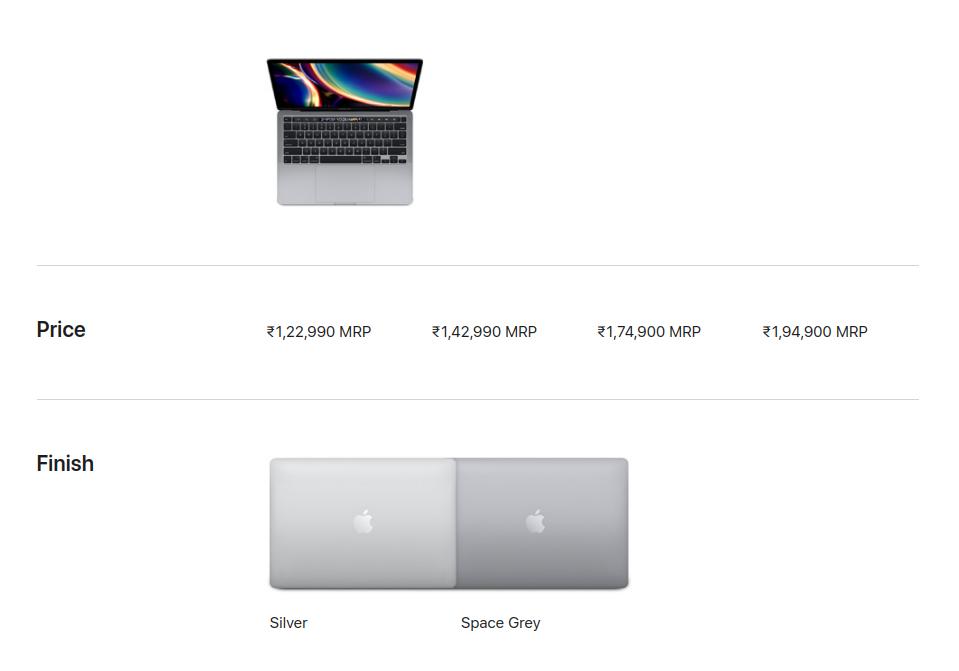 Apple Macbook 13 2020 Lowest Price in India