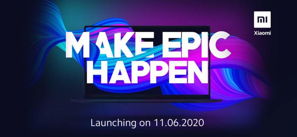Xiaomi Mi Notebook 2020 India Launch