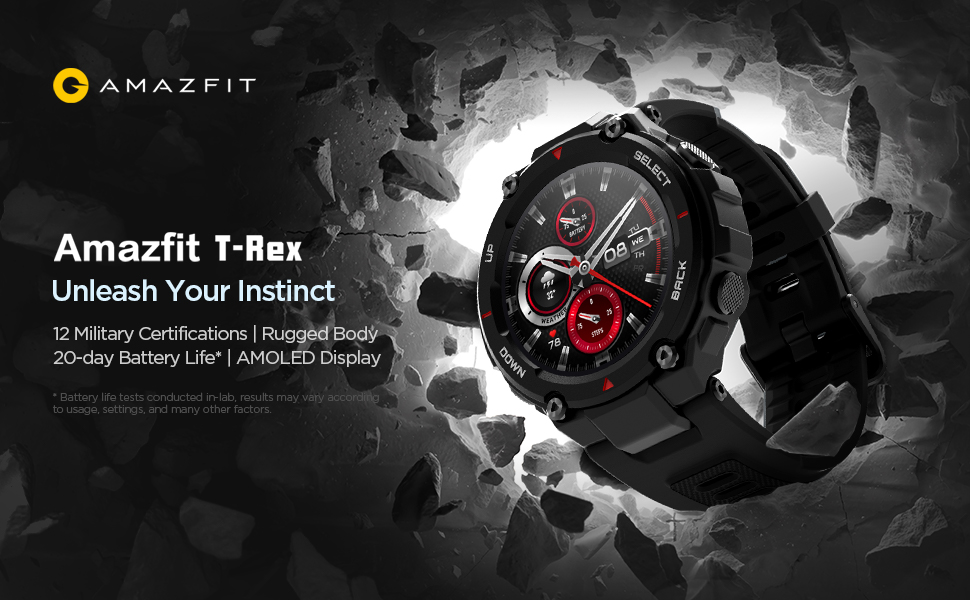 Huami Amazfit T-Rex Smart Watch in Stock on Amazon India