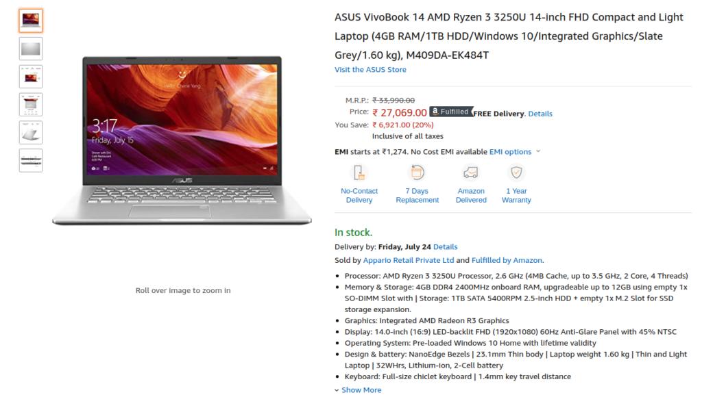 ASUS VivoBook 14 M409DA-EK484T