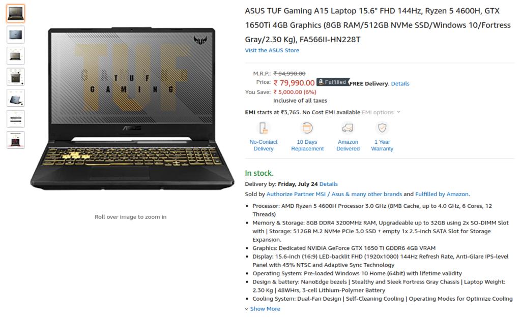 Asus FA566II HN228T Laptop
