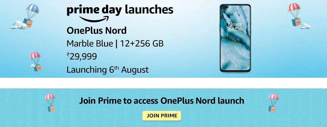 OnePlus Nord 12GB 256GB Marble Blue Color Sale on Aug 6th