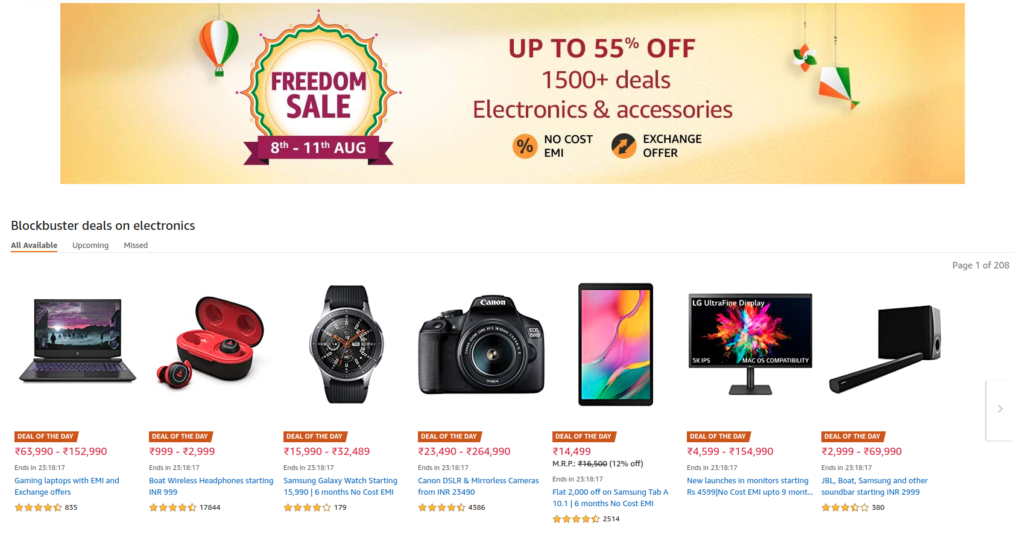 Amazon Freedom Sale Aug 8 11 2020 offers