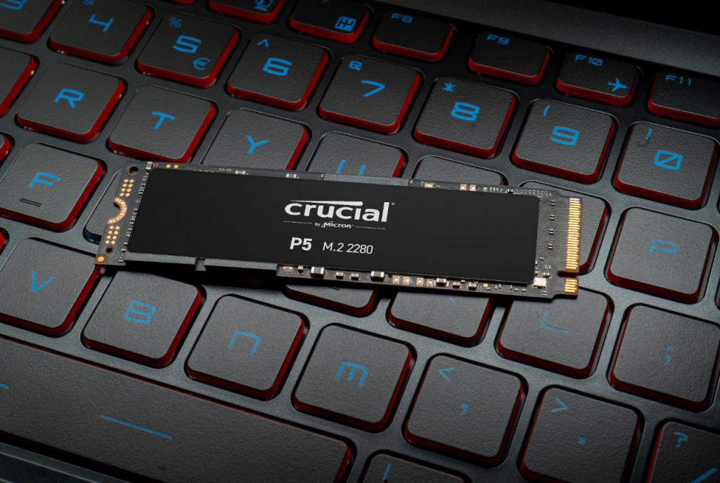 Crucial P5 NVMe PCIe M.2 2280SS 3D NAND SSD