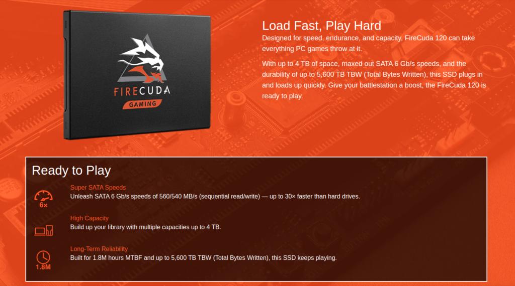 Seagate FireCuda 120 1TB SSD India Price
