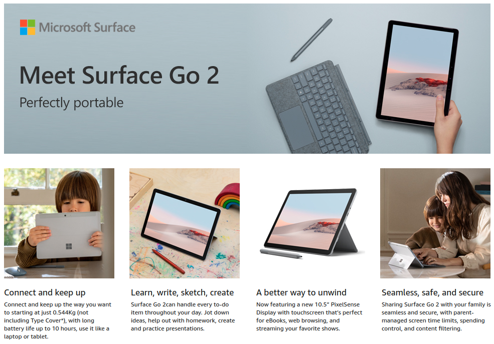 Microsoft Surface Go 2 price india