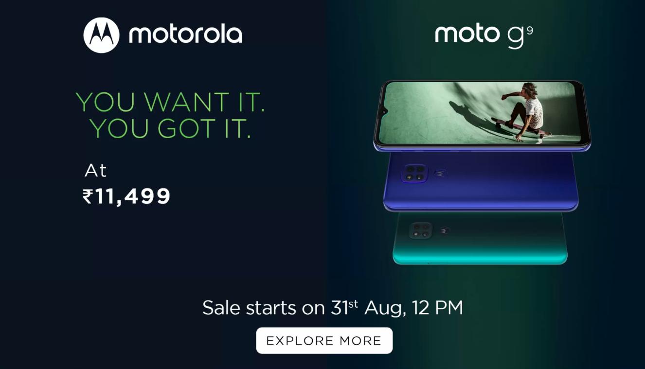 Motorola G9 Price, Specs and Features [ India ]