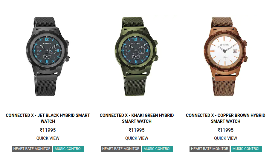Titan Connected X Smartwatches Price in India