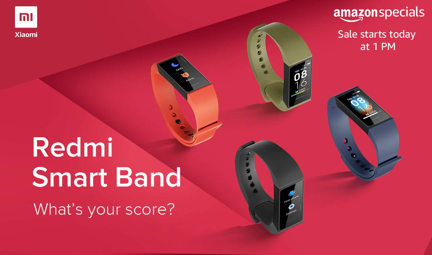 Redmi Smart Band in Stock on Amazon India
