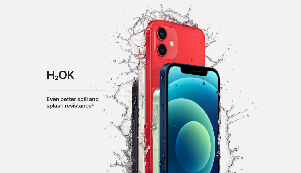 Apple iPhone 12 Water resistance