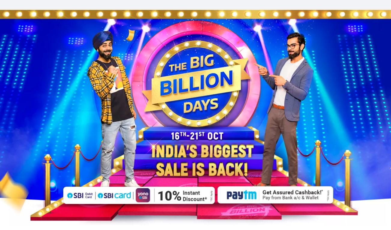 Flipkart Big Billion Days 2020 Early Access Sale on Oct 15