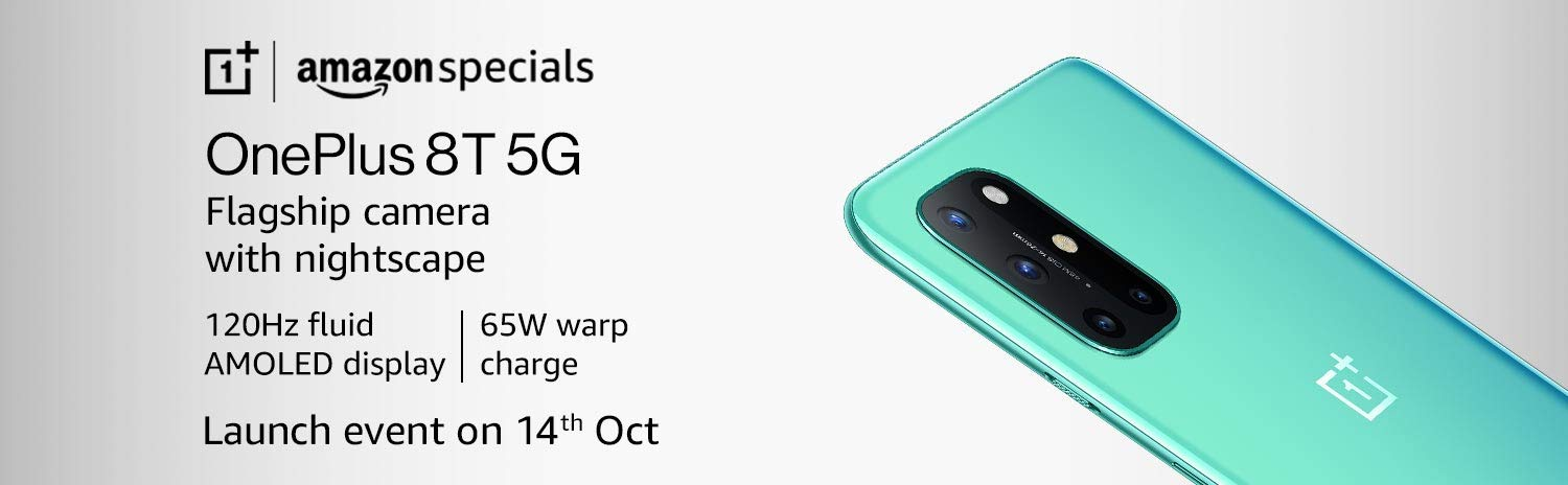 OnePlus 8T 5G First Sale on Oct 16th on Amazon India