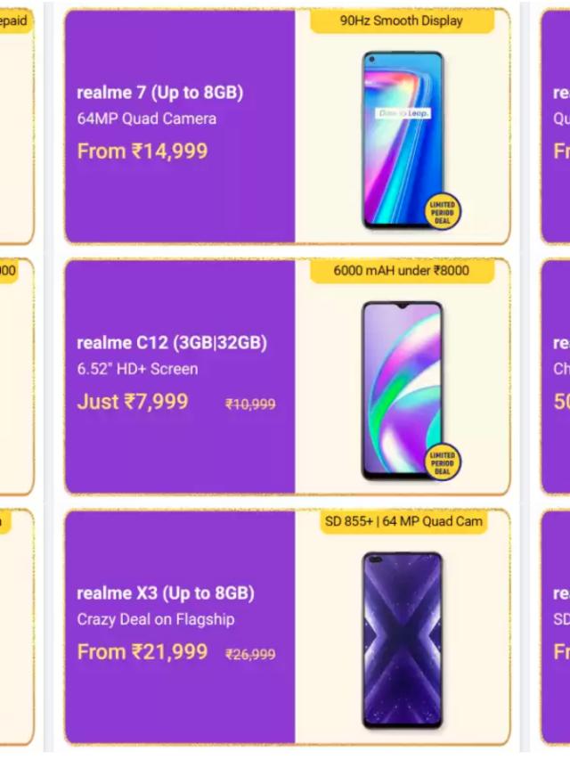 Oct 16-21 Realme Mobile Offers   Flipkart Big Billion Days 2020 Sale