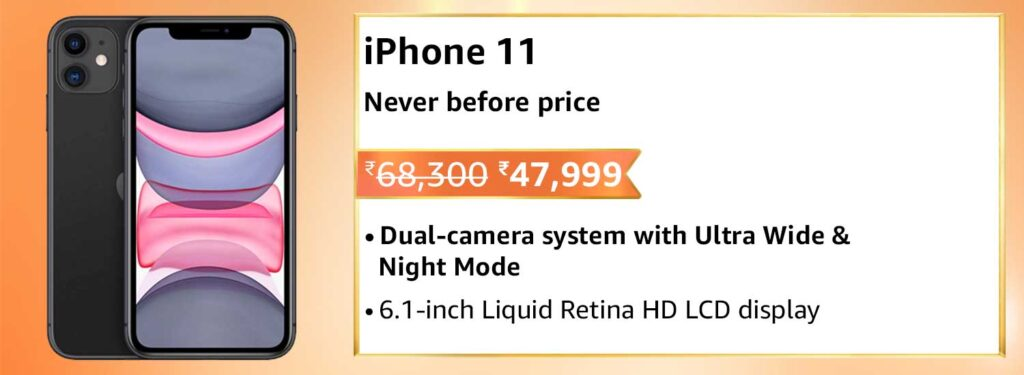 iphone 11 offer amazon india