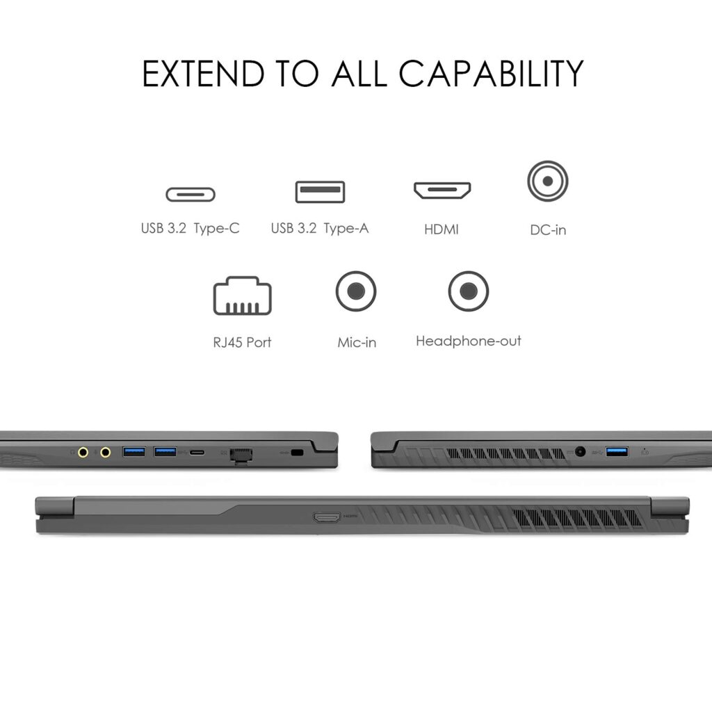 MSI WF65 WF75 Laptops Ports