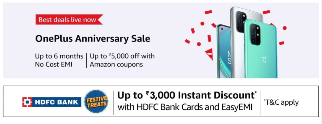 OnePlus Anniverary 2020 Sale Offers