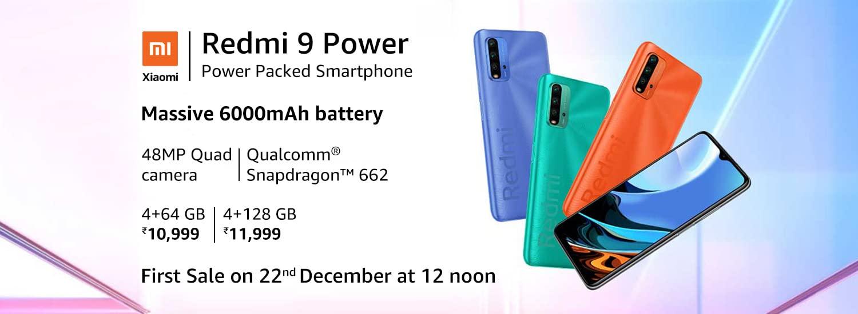 Xiaomi Redmi 9 Power First Sale on Dec 22 on Amazon India