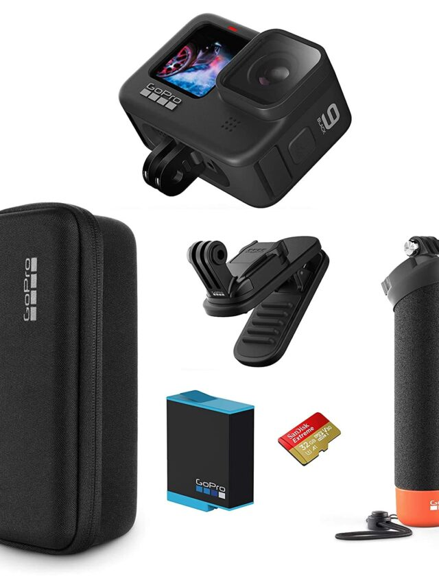 GoPro HERO9 Black Holiday Bundle listed on Amazon India