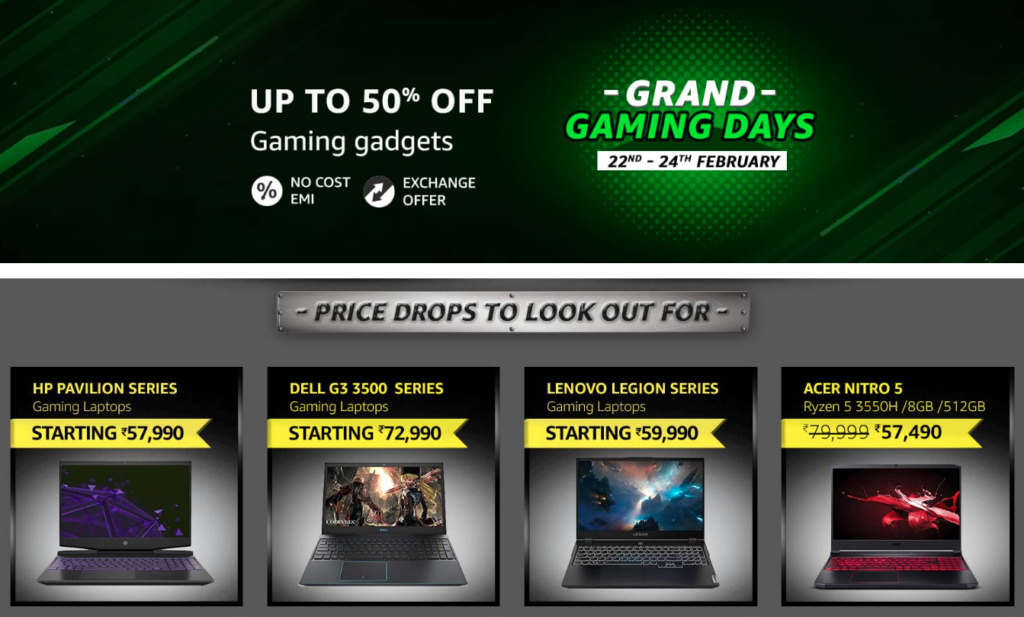 Grand Gaming Days Sale Amazon India