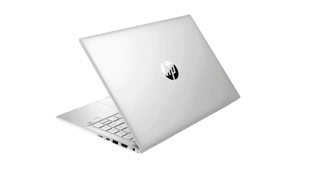 HP 14 dv0054TU Laptop Silver color back