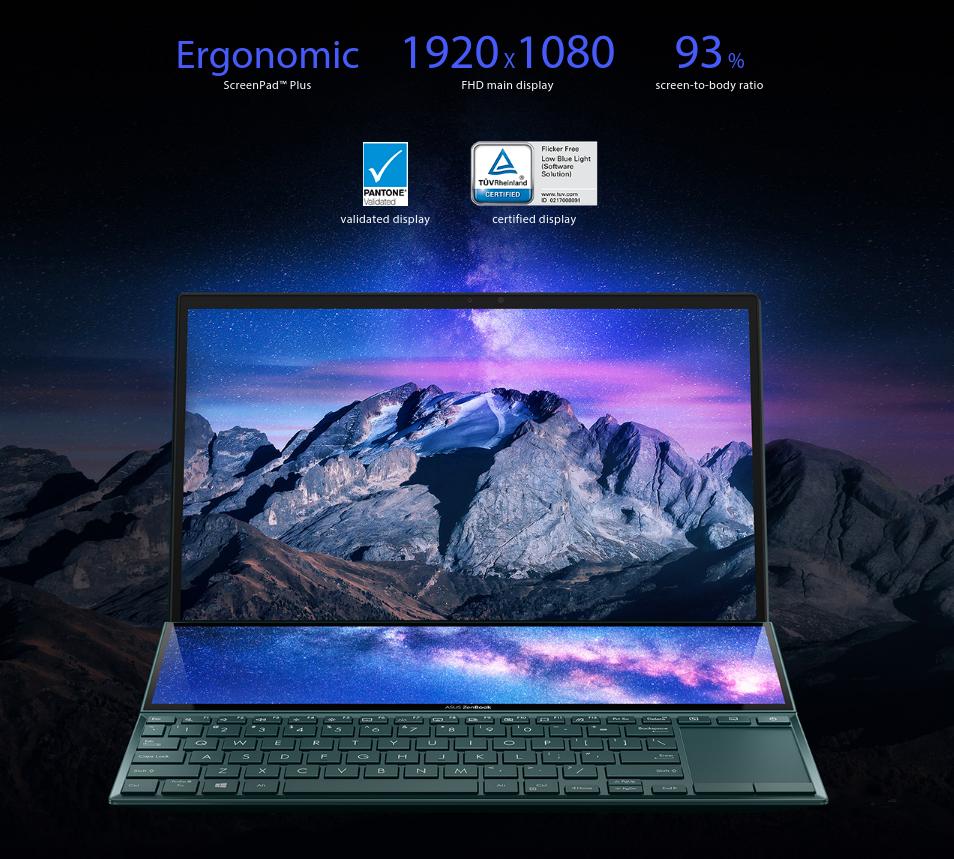 ASUS ZenBook Duo 2021 UX482EG KA521TS displays