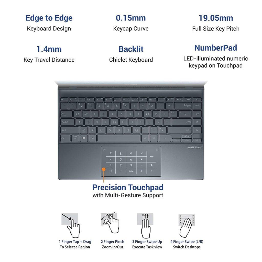 Asus UM325UA KG701TS Zenbook 13 2021 keyboard