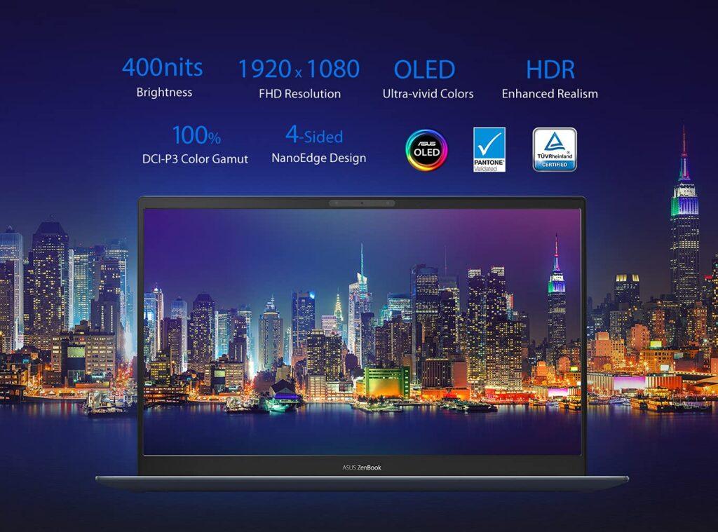 Asus Zenbook 13 2021 UM325UA KG501TS display specs