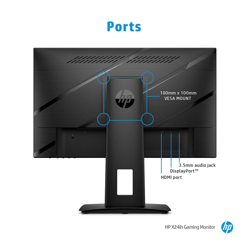 HP X24ih 13L82AA Gaming Monitor POrts