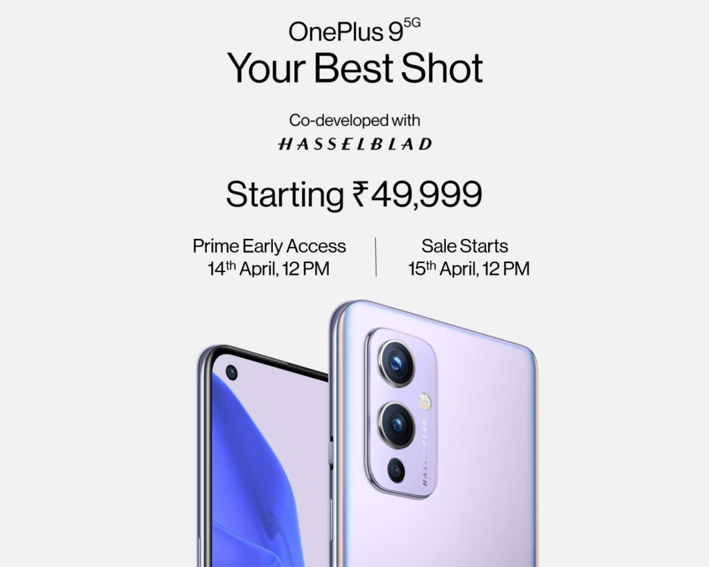OnePlus 9 5G next sale amazon india 1