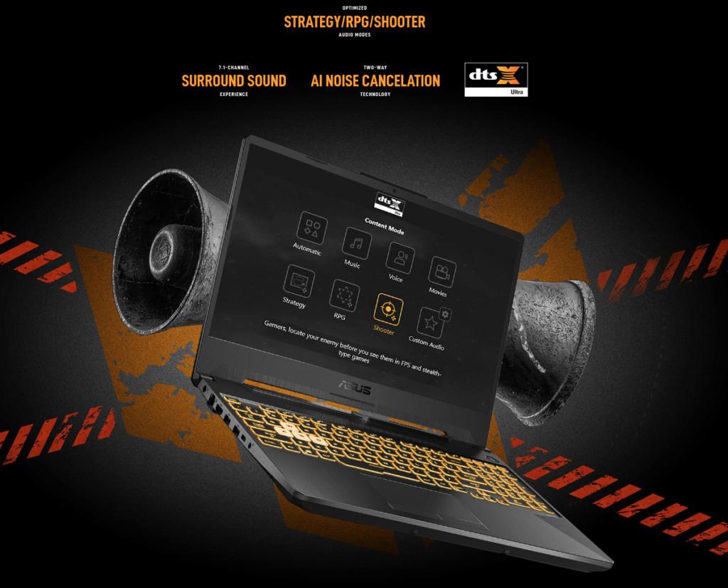 ASUS FA506QM HN009TS Audio