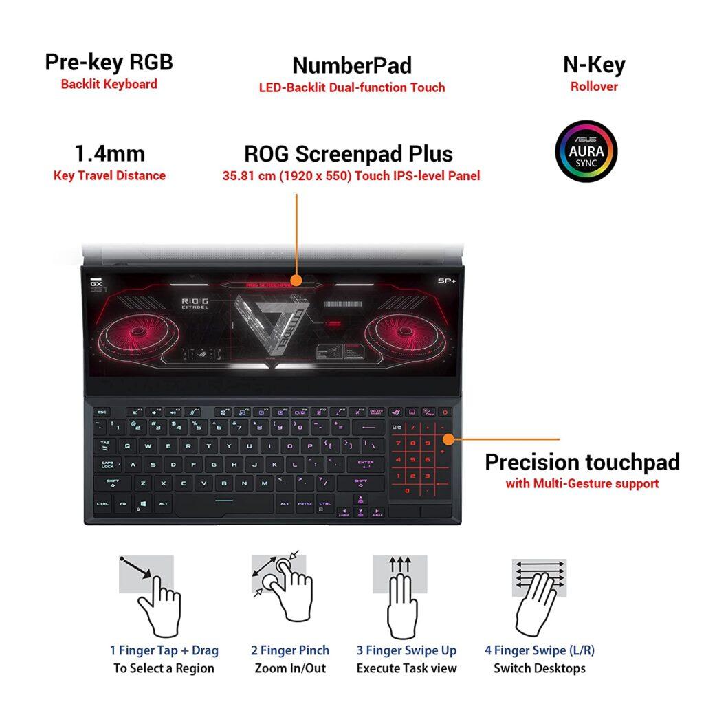 ASUS GX551QS HF151TS Keyboard