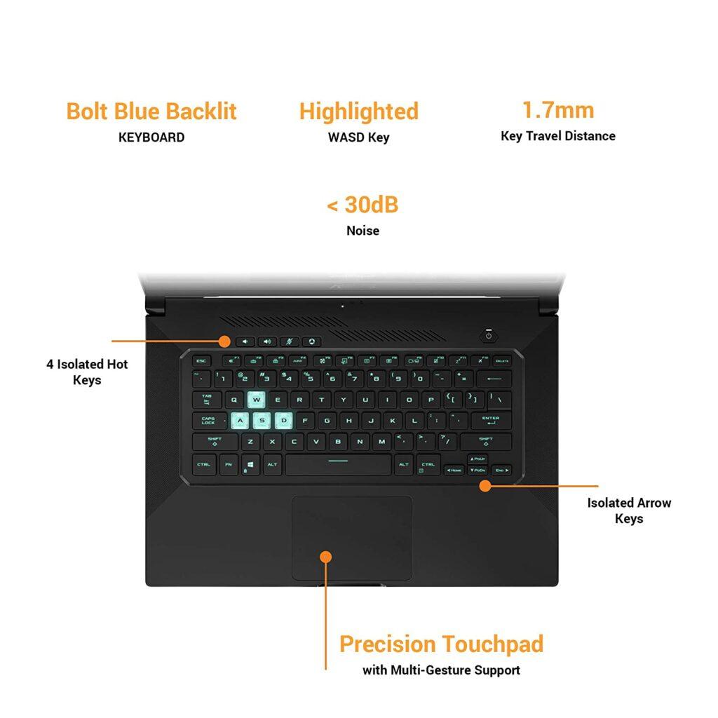 ASUS TUF Dash F15 2021 FX516PE HN088TS keyboard