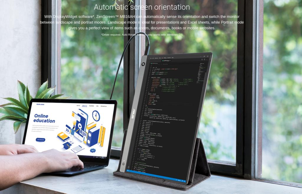 ASUS ZenScreen MB16AH Type C Monitor