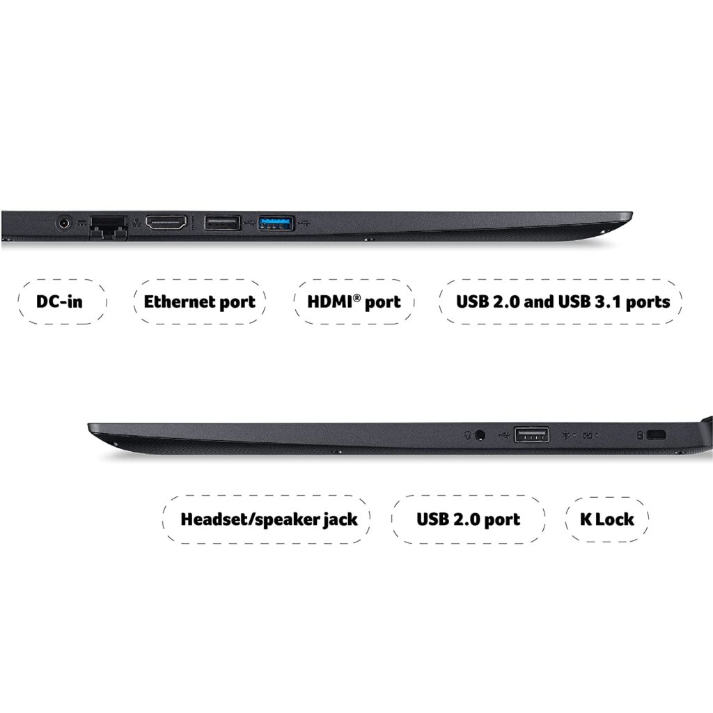 Acer Extensa Laptop EX215 31 Ports