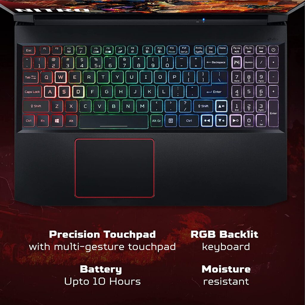 Acer Nitro 5 AN515 56 NH.QBZSI .00 keyboard 1