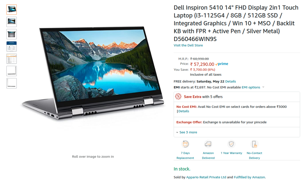 Dell D560466WIN9S Amazon india