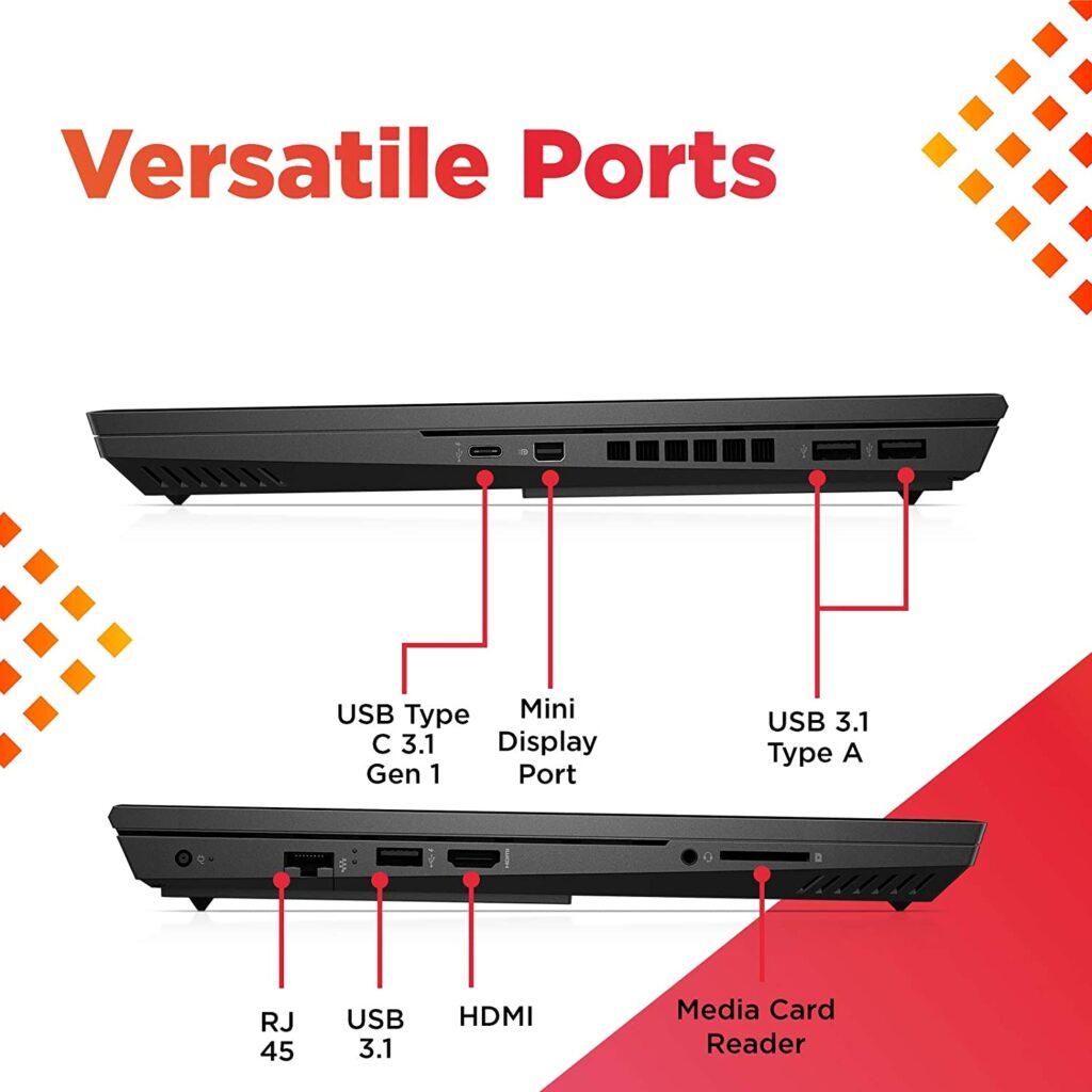 HP Omen 15 ek1017TX Ports