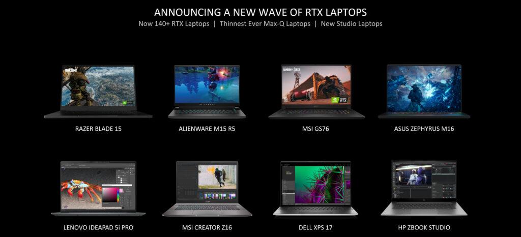 New RTX 30 Series Laptops 1