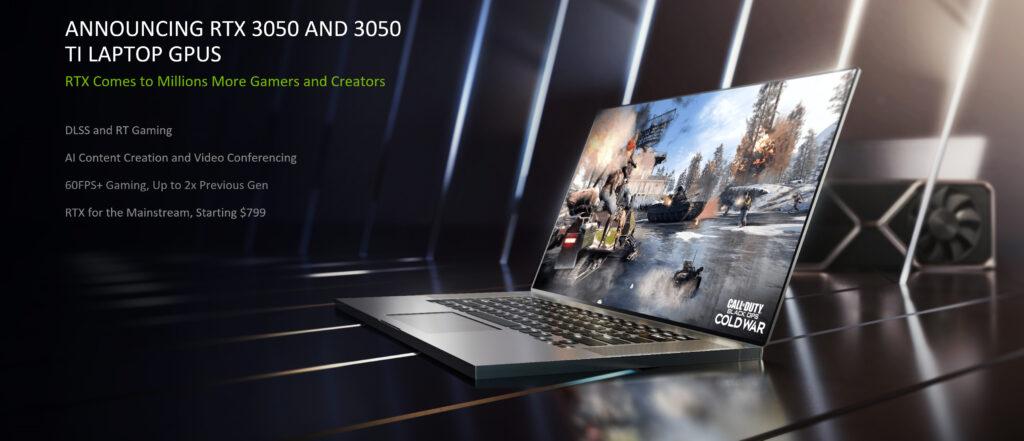 Nvidia RTX 3050 Ti GPU Laptops Features