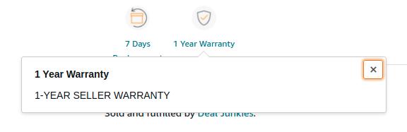 Seller warranty