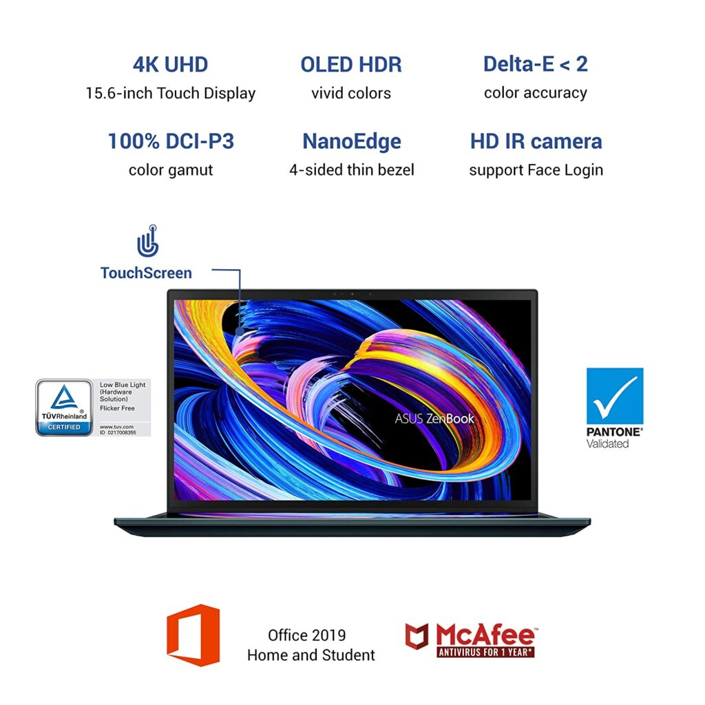 Asus ZenBook Pro Duo OLED 2021 UX582LR H901TS display