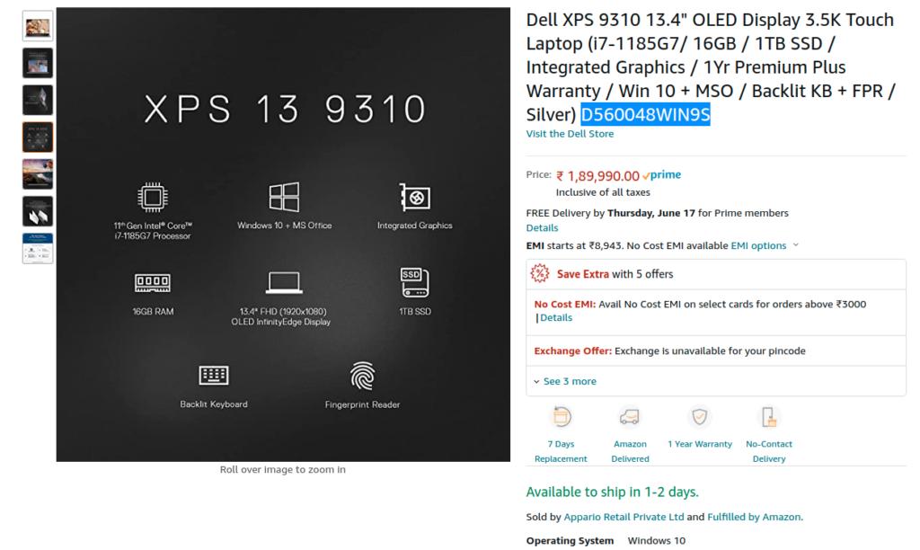 D560048WIN9S Display Specs