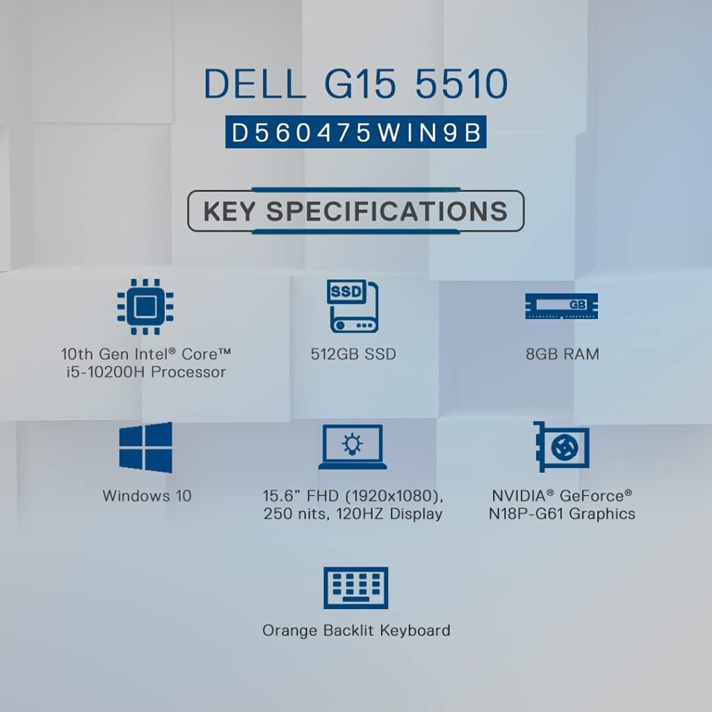 Dell D560475WIN9BE G15 5510 Laptop SPecs