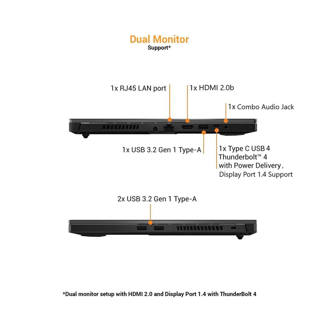 FX516PE HN089TS Asus Ports