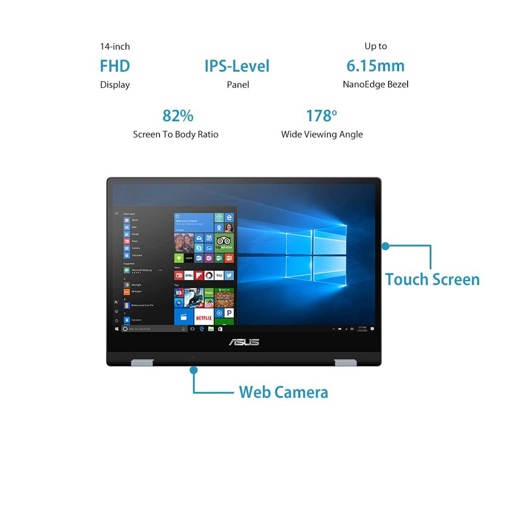 ASUS VivoBook Flip 14 TP412FA EC382TS display