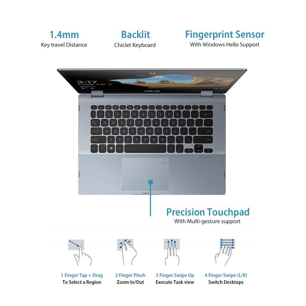 ASUS VivoBook Flip 14 TP412FA EC382TS keyboard