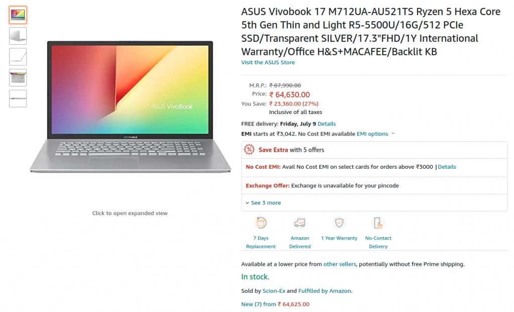 ASUS Vivobook 17 M712UA AU521TS