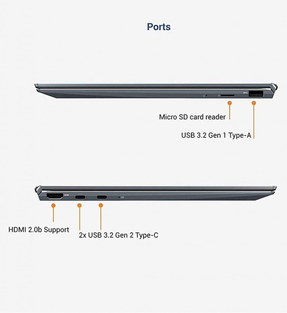 ASUS Zenbook 13 UM325SA KG502TS ports